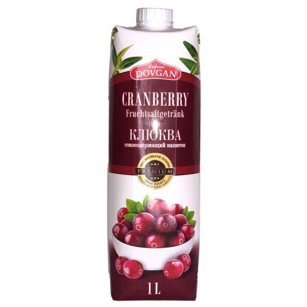 Šťávový nápoj Dovgan Cranberries 1 L.