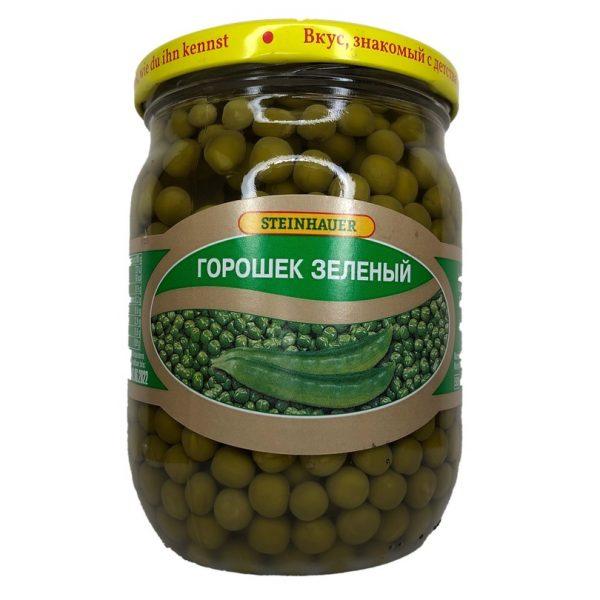 Zelený hrášek 500 g. Steinhauer